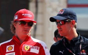 Kimi y Vettel